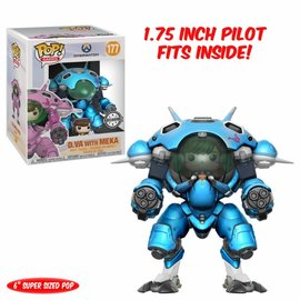 FUNKO Pop! Games: Overwatch - 6 inch Blueberry D. Va and Mech LE