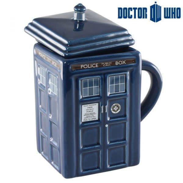 Zeon Dr. Who: 3D Moulded Tardis Mug & Lid