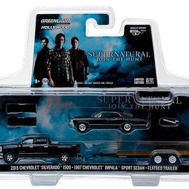 Greenlight Supernatural: 2015 Cevrolet Silverado 1:64 scale model