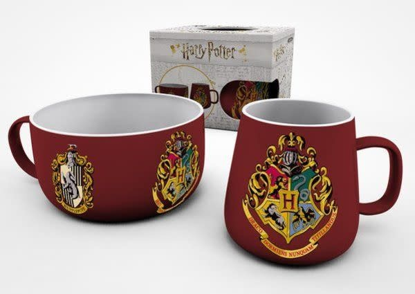 Hole In The Wall Harry Potter Crests Breakfast Set