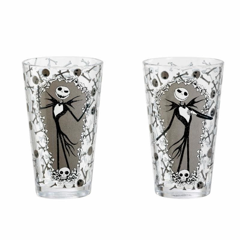 FUNKO Nightmare Before Christmas: Jack and Bones Pint Glass Set