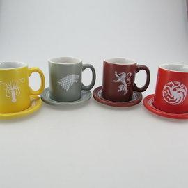SD Toys Game of Thrones: House Emblems - Set of 4 Espresso Mugs