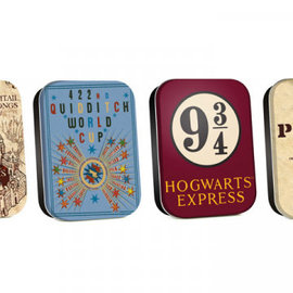 Half Moon  Bay Timeless Tins Set Of 4 - Harry Potter Map
