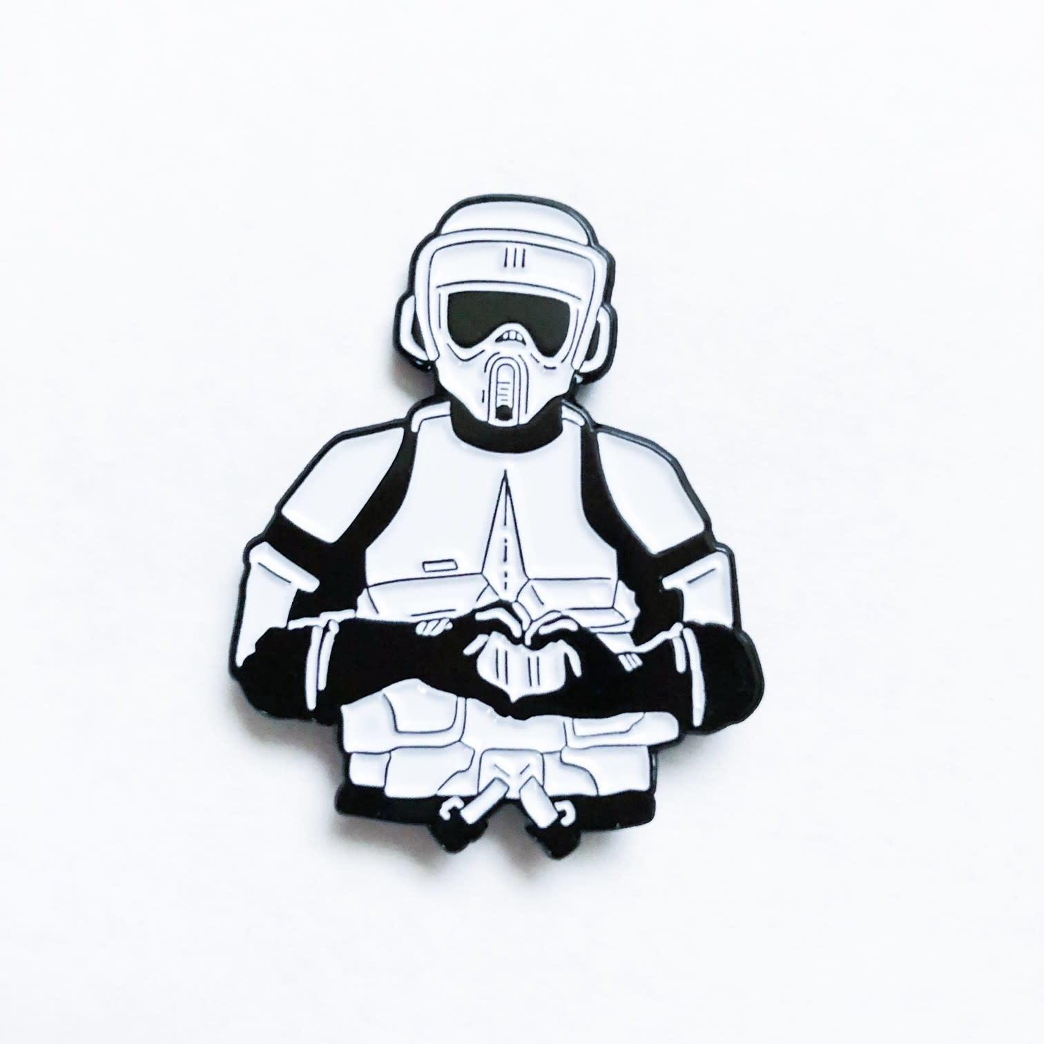 DKE Star Wars: I heart U - Biker Scout Pin
