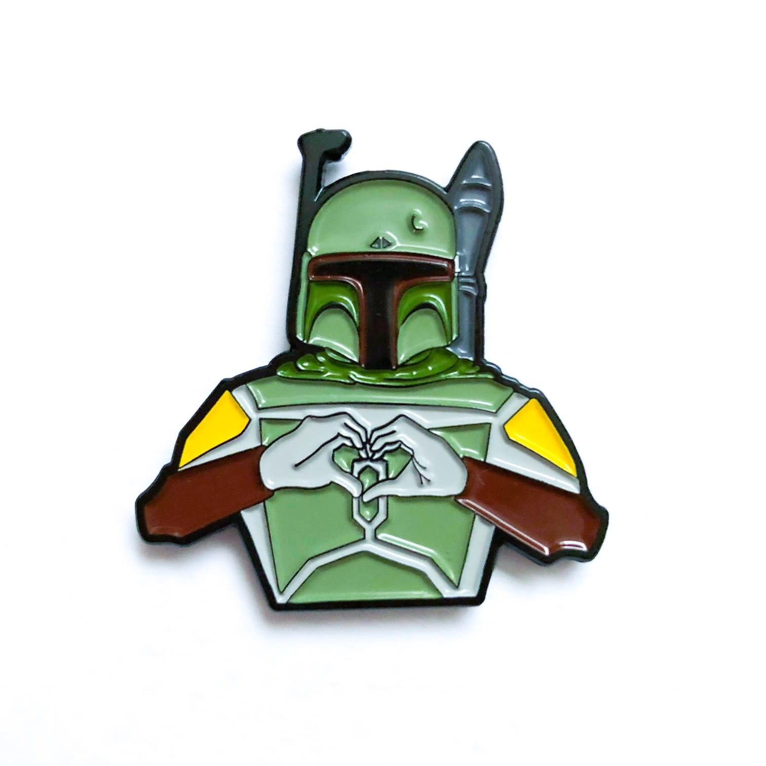 DKE Star Wars: I heart U - Boba Fett Pin