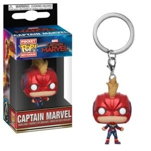 FUNKO Pocket Pop Keychains: Marvel - Captain Marvel with Helmet