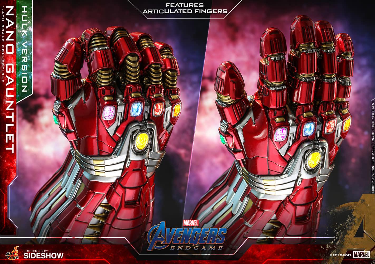 Sideshow Toys Pre-order :  Marvel: Avengers Endgame - Hulk Version Nano Gauntlet 1:4 Scale