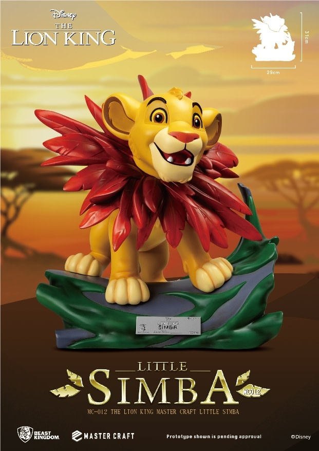 Beast Kingdom Disney: The Lion King - Master Craft Little Simba Statue