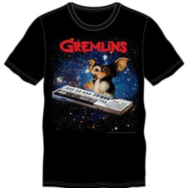 Bioworld Gizmo Playing Keyboard Black Tee