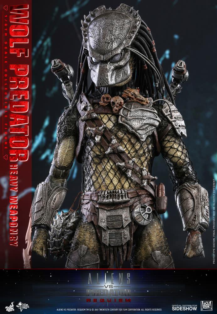 Hot toys Aliens vs Predator Requiem: Wolf Predator Heavy Weaponry 1:6 Scale Figure