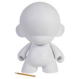 Kidrobot White Mega MUNNY Reusable DIY Toy 18-Inch