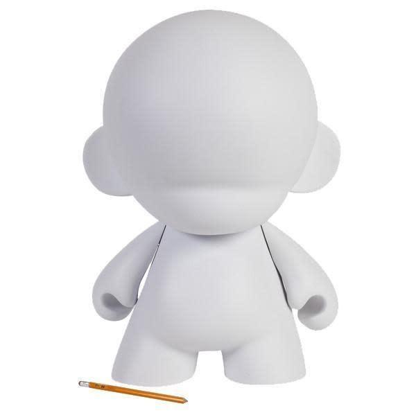 Kidrobot White Mega MUNNY Reusable DIY Toy 18-Inch