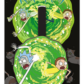 Hole In The Wall Luggage tag rick and morty portal