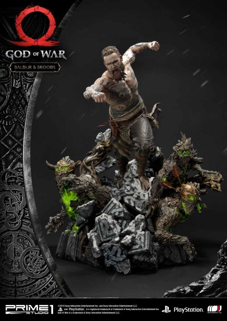 Prime 1 Studio PRE ORDER: God of War 2018: Baldur and Broods 24.5 inch Statue