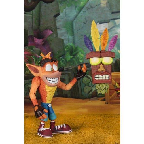 NECA Crash Bandicoot: Ultra Deluxe Crash Bandicoot - 7 inch Scale Figure