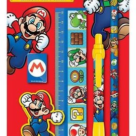 Hole In The Wall Super Mario - 5 Piece Stationery Set