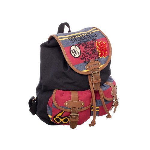 Bioworld Harry Potter knapsack with stripes and patches