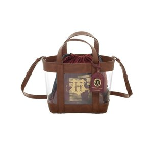 Bioworld Harry Potter Clear Tote With Cinch Bag