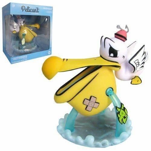 Kidrobot Pelican't Yellow Medium Figure by Joe Ledbetter