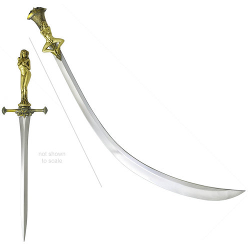 Valyrian Steel pre order: Game of Thrones: Daario's Ladies - Matching Arakh and Stiletto Blade