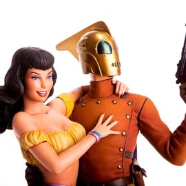 mondo Rocketeer: Rocketeer and Betty Statue