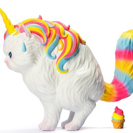 soap studios Strange Cat Family: Unicat - Rainbow Ice Cream 15 cm Vinyl Figure