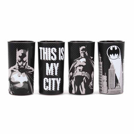 Half Moon Bay Batman set of mini glasses (set of 4) - poses