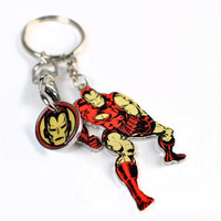 Marvel keyring with trolley coin iron man