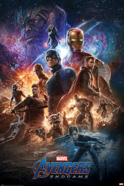Hole In The Wall Marvel Avengers Endgame From The Ashes - Maxi poster