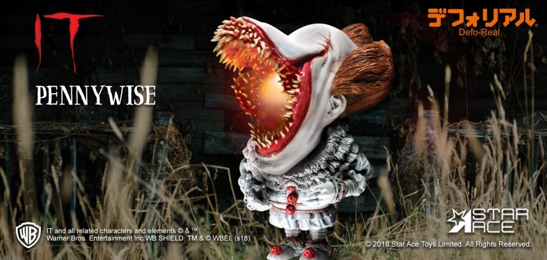 It 2017 Scary With Light Pennywise Defo Real Soft Vinyl Statue Fans