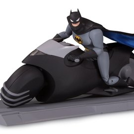 Diamond Direct DC Comics: Batman Animated Series Batcycle and Action Figure Set