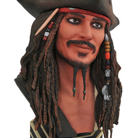 Diamond Direct Pirates of the Caribbean: Legends in 3D - Jack Sparrow 1:2 Scale Bust