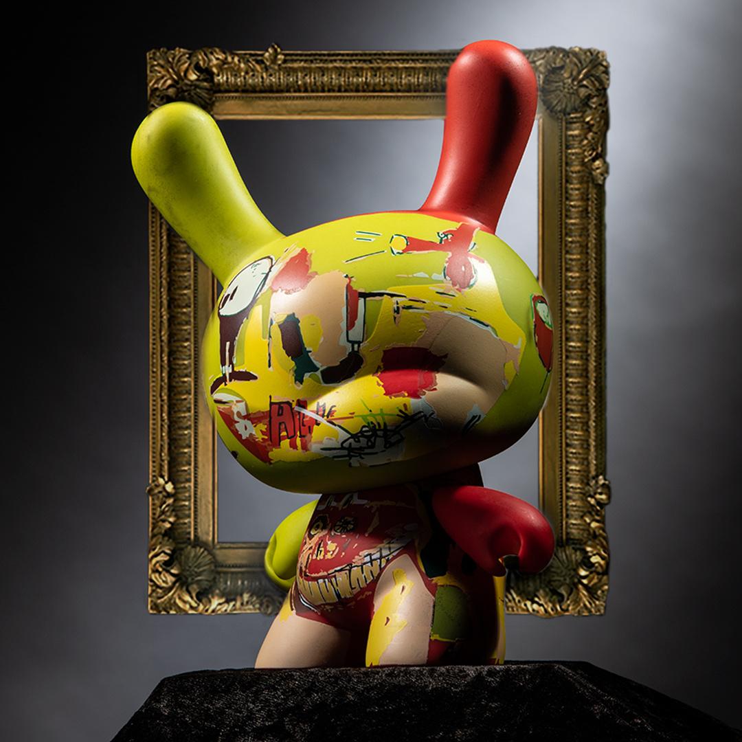 """Basquiat's """" Wine of Babylon """" – Van collage tot vechtscheiding tot meesterwerk Dunny  Kidrobot"""
