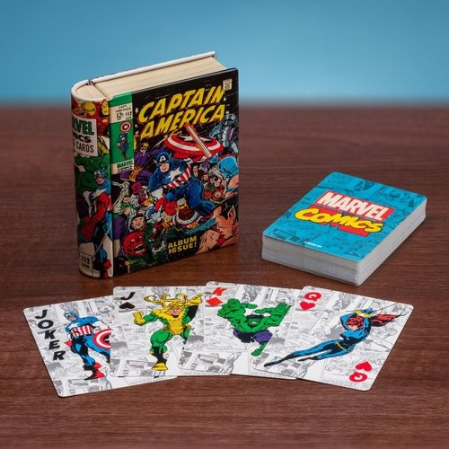 Paladone Marvel: Comic Book Playing Cards with Storage Tin