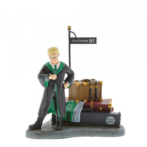 enesco Draco Malfoy Waits at Platform 9 3/4 Figurine