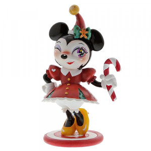enesco Disney Miss Mindy Christmas Minnie Mouse Figurine