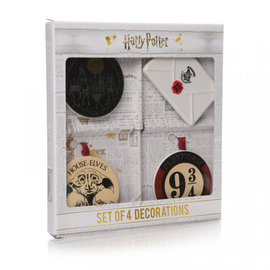 Half Moon  Bay Set of 4 Harry Potter decorations (set of 4)