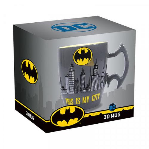 Half Moon  Bay Batman Stoneware Mug City Scene