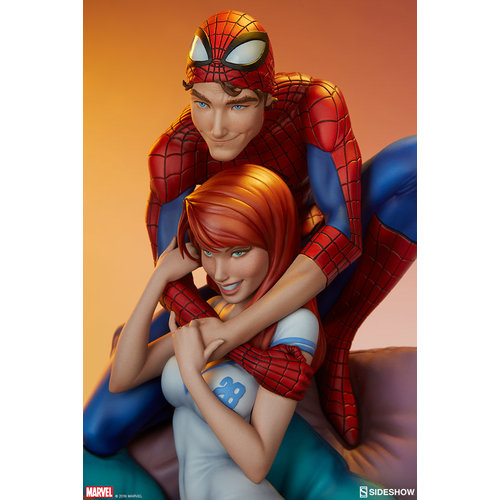 Sideshow Marvel: Spider-Man and Mary Jane Maquette
