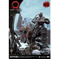 Pre order: God of War: Deluxe Kratos and Atreus Ivaldi's Deadly Mist Armor Statue