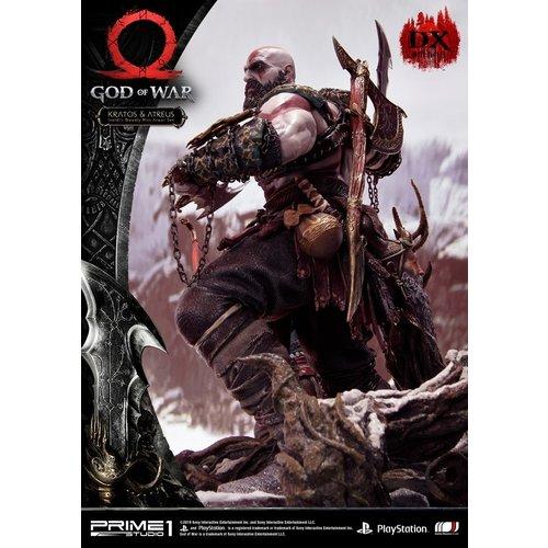 Prime 1 Studio Pre order: God of War: Deluxe Kratos and Atreus Ivaldi's Deadly Mist Armor Statue