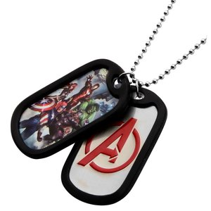 Marvel Avengers Graphic Logo Front Double Dog Tag