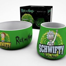 rickandmorty Rick And Morty Breakfast set