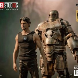 Iron Studios Marvel: Exclusive Iron Man Mark I and Tony Stark 1:10 Scale Statue