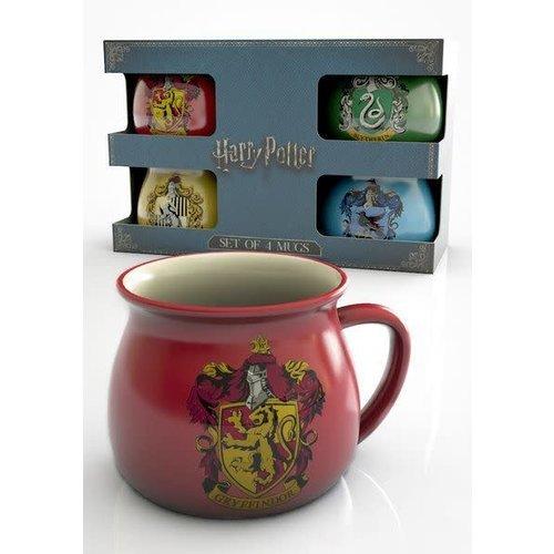 GB eye Harry Potter House Crests 4 mug gift set - Gift Box