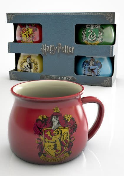 GB eye Harry Potter House Crests 4 mug gift set - Gift Box