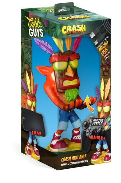 Exquisite Gaming Cable Guy - Crash Bandicoot Aku Phone & Controller Holder