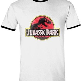 JURASSIC PARK Jurassic Park - Movie Ringer Mannen T-Shirt - Wit