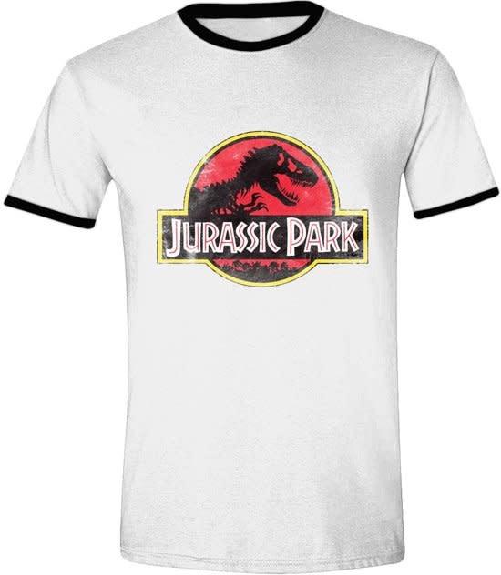 JURASSIC PARK Jurassic Park - Movie Ringer Mannen T-Shirt - Wit