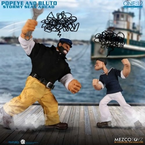 Pre order:  The One:12 Collective: Popeye and Bluto Stormy Seas Ahead Box Set